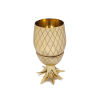 W&P Design Gold Large Pineapple Tumbler with Straw