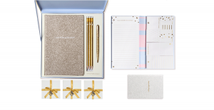 The Baby Blue & Gold Sparkle Stationery Collection