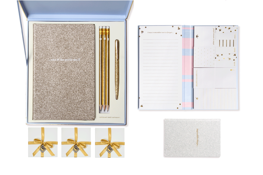 The Baby Blue & Gold Sparkle Stationery Collection | Christmas Gift Guide | Alice Pleasance