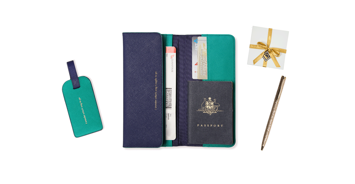 The Navy & Emerald Travel Collection | Alice Pleasance