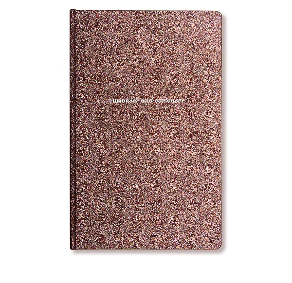 Alice Pleasance Notebook Curiouser Glitter - Front