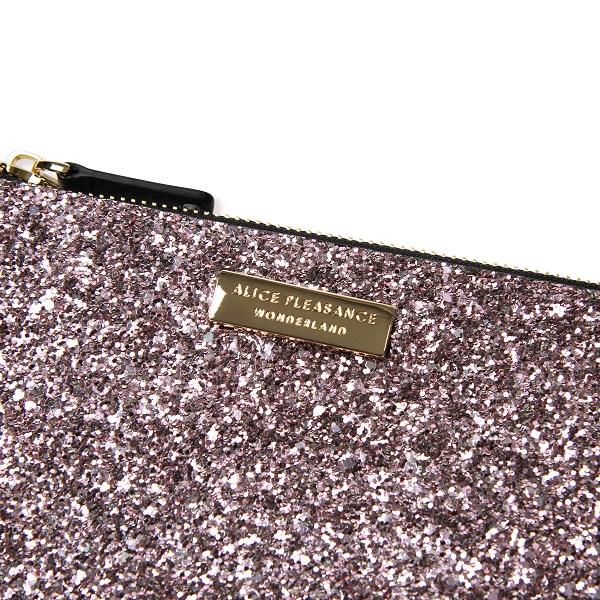 Alice Pleasance Wristlet Dusty Pink Glitter - Detail