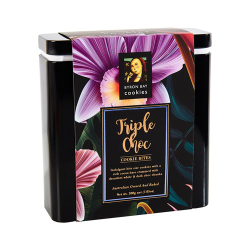 Byron Bay Triple Choc Fudge Floral Gift Tin (200g)