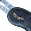 Alice Pleasance Velvet Eye Mask - Eyelashes - Steel Blue