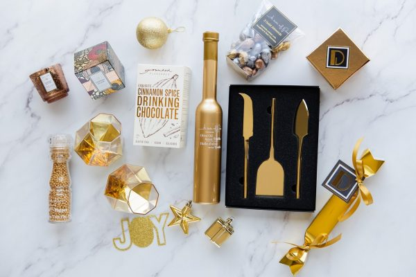 Gold Christmas 2019 Gift Box